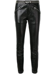 брюки скинни с заклепками  Red Valentino