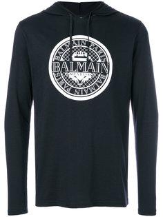 drawstring logo hoodie Balmain