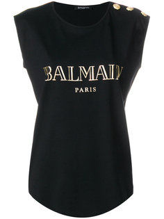 топ с логотипом  Balmain