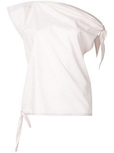 блузка с завязками на рукавах Mm6 Maison Margiela