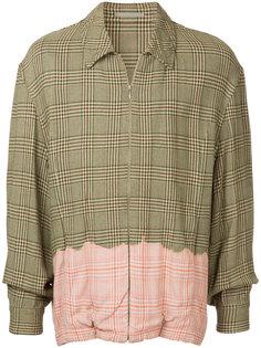 куртка-рубашка в клетку Comme Des Garçons Vintage