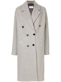 двубортное пальто свободного кроя Christian Wijnants