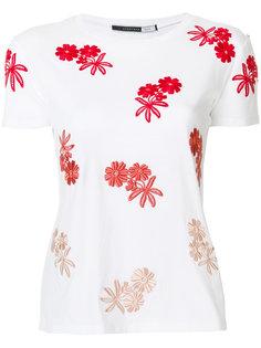футболка с цветочной вышивкой Sportmax