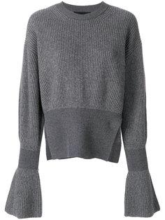 вязаный свитер с расклешенными рукавами Alexander Wang