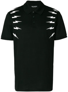 футболка-поло Thunderbolt Neil Barrett