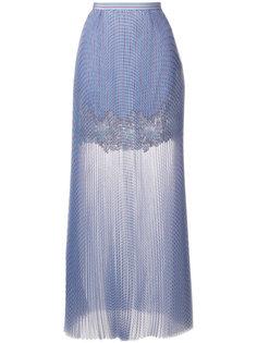 длинная юбка с кружевной панелью Ermanno Scervino