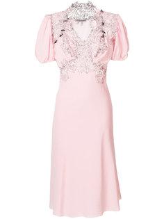платье с кружевной отделкой Ermanno Scervino
