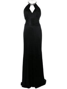 вечернее платье с декорированным воротником Roberto Cavalli