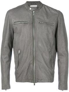 zipped biker jacket Dondup