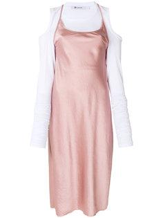 расклешенное платье миди T By Alexander Wang