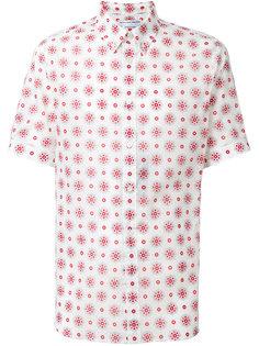 рубашка с вышивкой и короткими рукавами Alexander McQueen