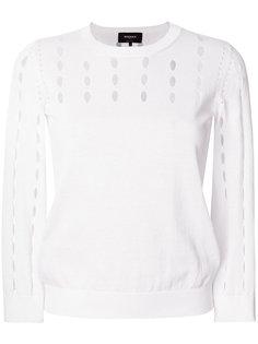 свитер с вырезами  Rochas