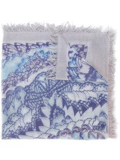 printed fringed scarf Hemisphere