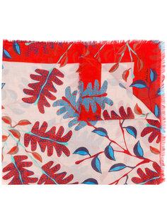 шарф с лиственным принтом Marc Cain