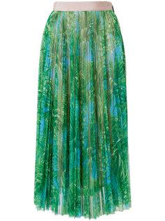 плиссированная юбка с пальмовым принтом  MSGM