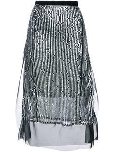 декорированная юбка с пайетками Sacai