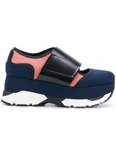 кроссовки Arial на платформе Marni