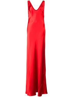 вечернее платье с глубоким вырезом Galvan