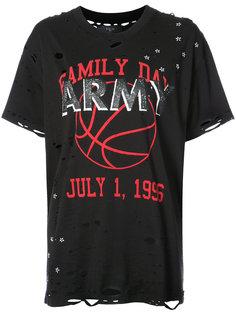 состаренная футболка с графическим принтом  Amiri