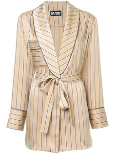 belted stripe blazer Dalood
