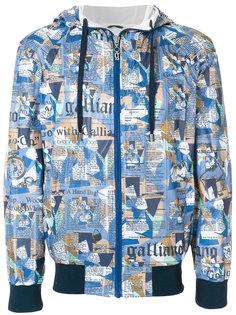 куртка с капюшоном  и графическим принтом John Galliano
