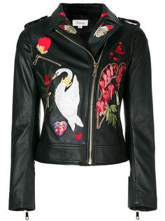 байкерская куртка с вышивкой  Temperley London