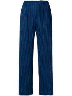 плиссированные брюки прямого кроя Pleats Please By Issey Miyake