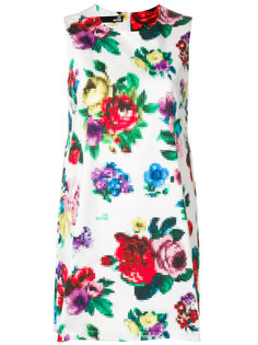 платье шифт с цветочным принтом  Love Moschino