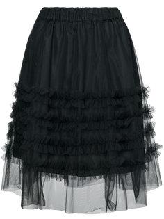 юбка с завышенной талией и оборками  P.A.R.O.S.H.