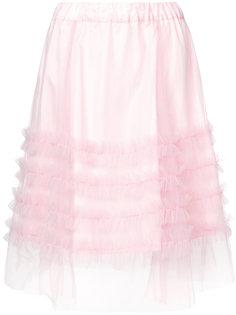 юбка с завышенной талией и оборкой  P.A.R.O.S.H.