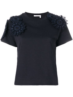 футболка с ажурной аппликацией See By Chloé