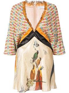 блузка с панельным дизайном и рисунками Vionnet
