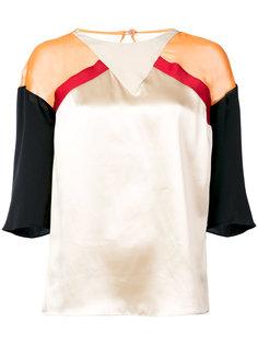 блузка дизайна колор-блок Vionnet