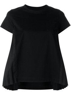 расклешенная плиссированная футболка Sacai