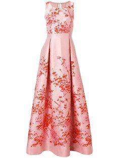 длинное платье с цветочным принтом  Max Mara