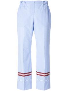 укороченные брюки в пижамном стиле  Nº21