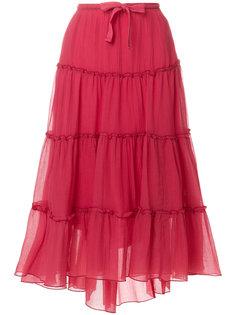 расклешенная юбка миди с оборками See By Chloé