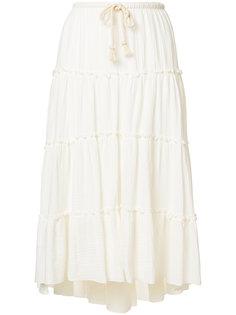 расклешенная юбка с рюшами See By Chloé