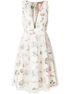 полупрозрачное платье с цветочным принтом  Nº21