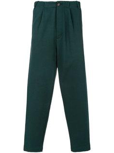 укороченные зауженные брюки с завышенной талией Société Anonyme