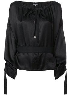 блузка с поясом Ann Demeulemeester Blanche