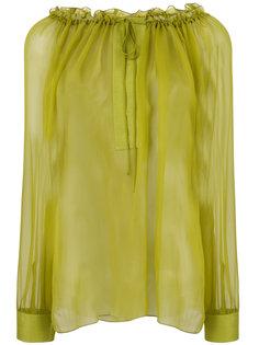 полупрозрачная блузка  Alberta Ferretti