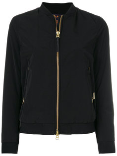 куртка-бомбер  с карманами на молнии Woolrich