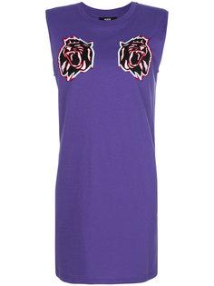 платье с нашивками в виде львов  Versus