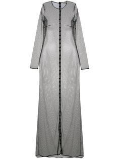 длинное полупрозрачное платье  Murmur