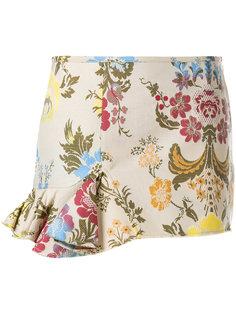 жаккардовая юбка с цветочным принтом  Marquesalmeida
