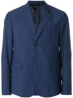 пиджак с узором в мелкую клетку Prada