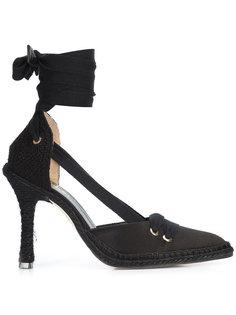 эспадрильи со шнуровкой на каблуке Castañer