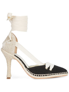 эспадрильи на каблуке со шнуровкой Castañer