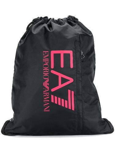 logo print drawstring backpack  Ea7 Emporio Armani